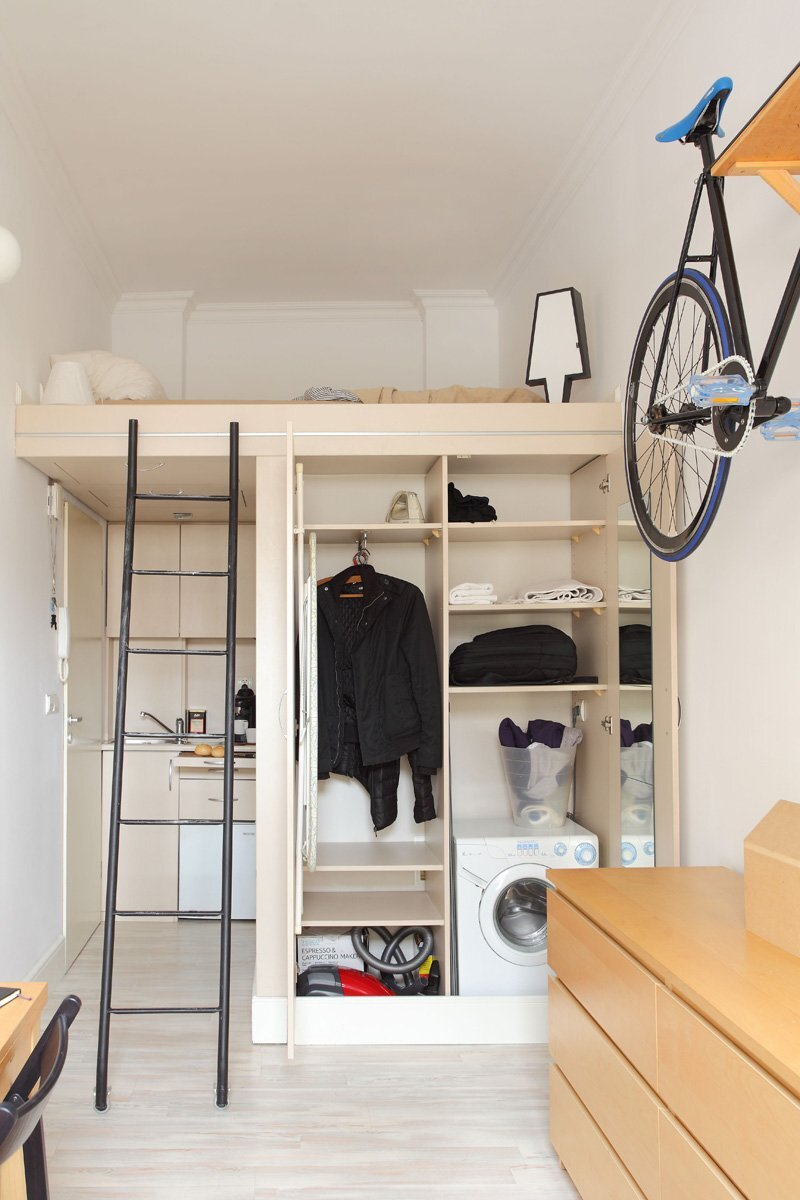 Tiny Apartment - Szymon Hanczar - Poland - Living Area Storage - Humble Homes