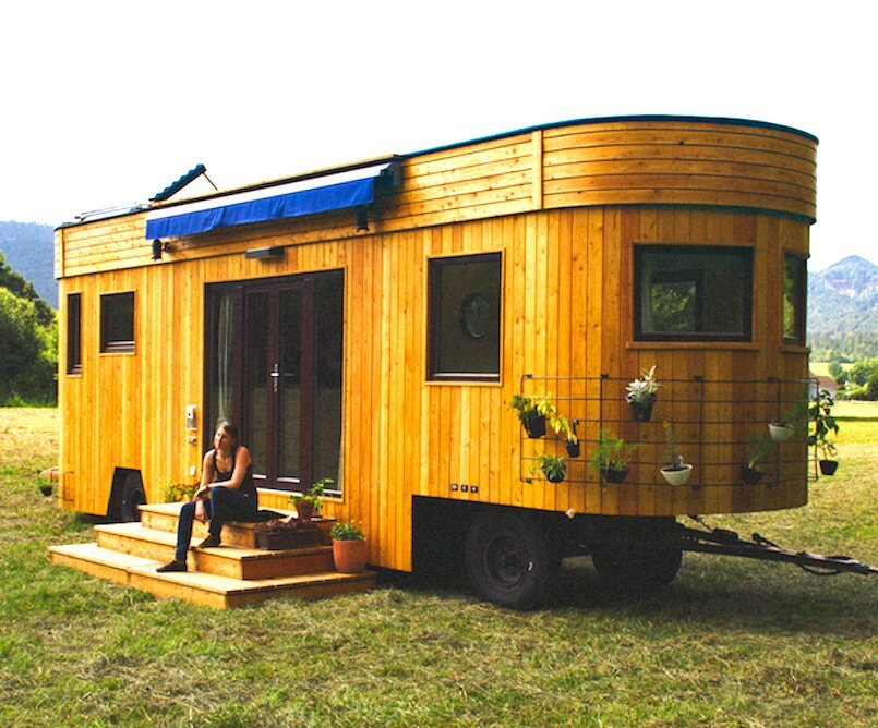 Wohnwagon an eco friendly tiny house from austria for Small sustainable homes
