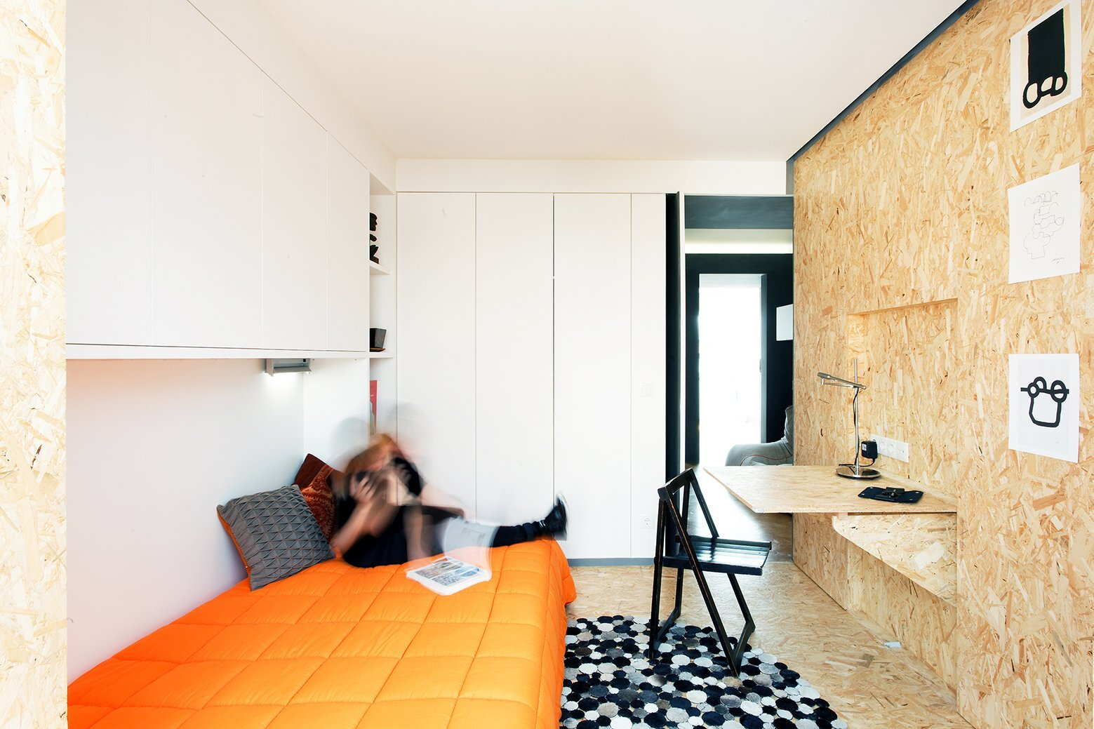 Xadrez Apartment - Small Apartment - UMA Collective - Portugal -  Bedroom 1 - Humble Homes