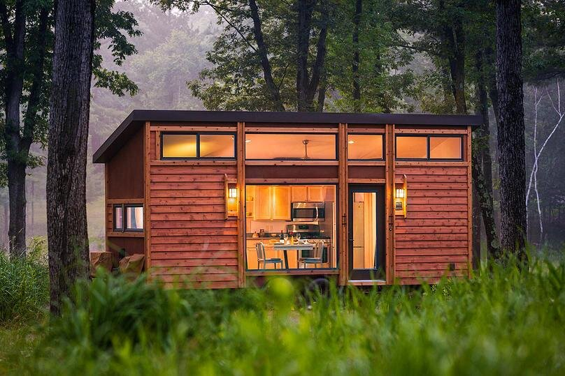 escape traveler tiny house on wheels kelly davis dan george dobrowolski exterior - House On Wheels