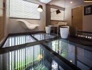 Glass Floor Entrance - H2 BOX - PODesign - Tiny Apartment - Thailand - Humble Homes