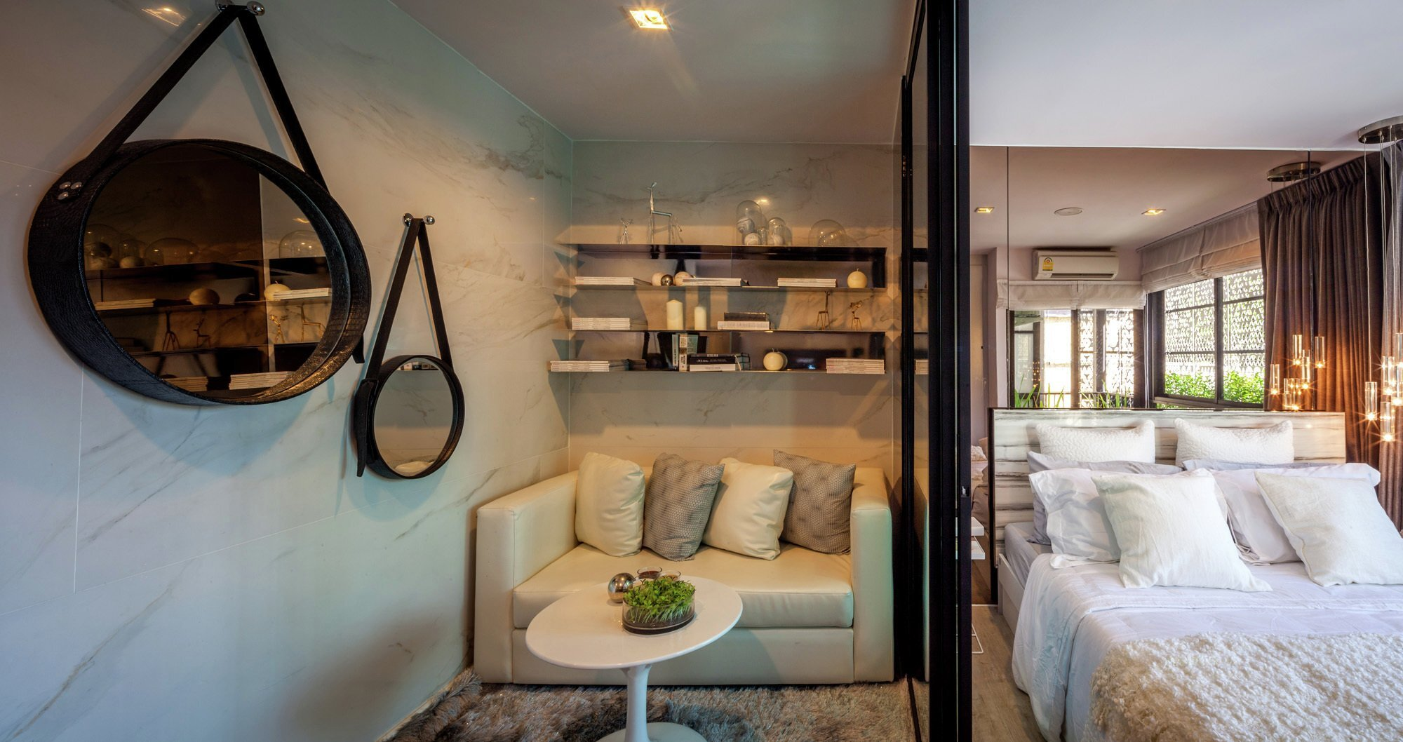 H2 BOX - PODesign - Tiny Apartment - Thailand - Seating and Bedroom - Humble Homes