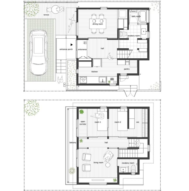 House of Kodaira - KASA Architects - Tokyo - Floor Plans - Humble Homes