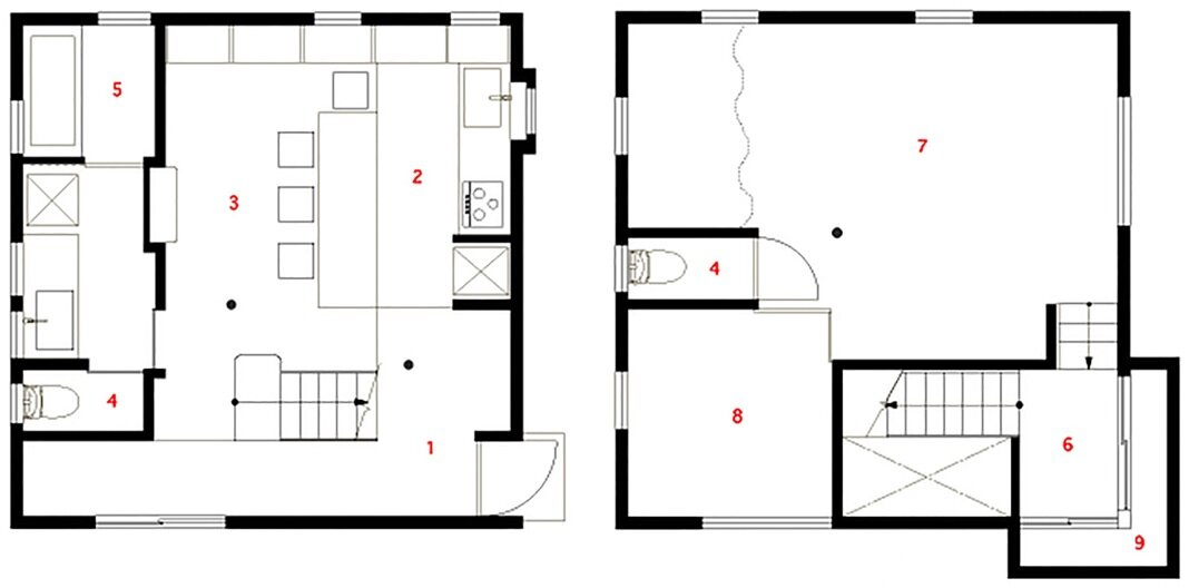 Kamo House - a.un architects - Gifu - Floor Plan - Humble Homes