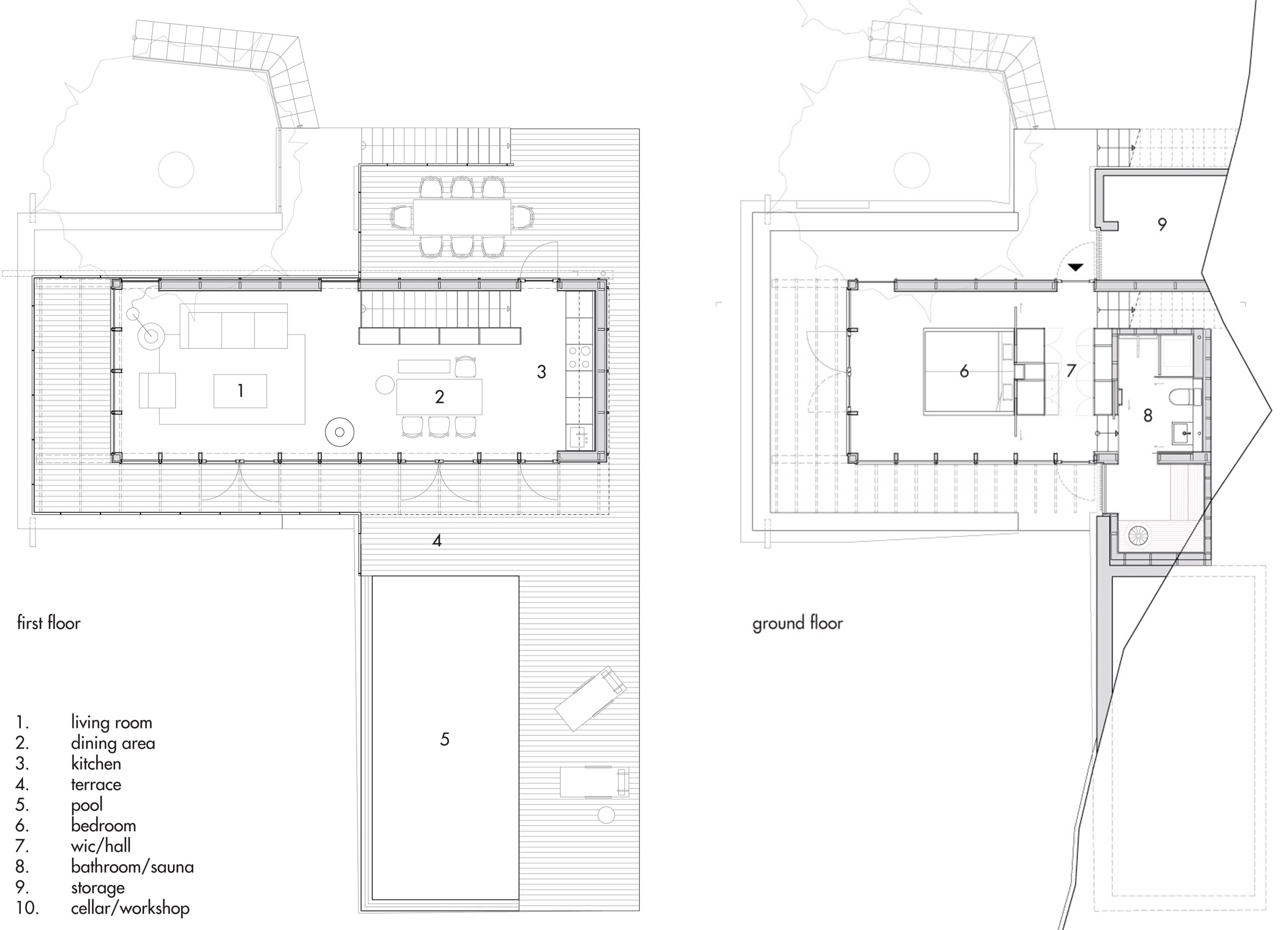Aspvik House - Small House - Andreas Martin Löf Arkitekter - Sweden - Floor Plans - Humble Homes