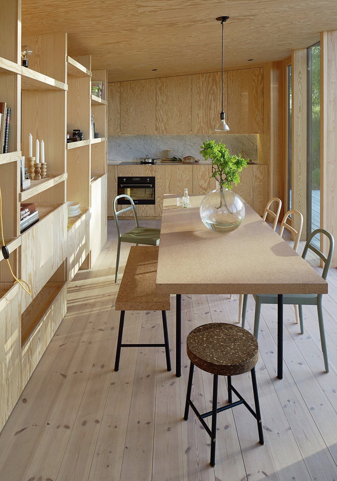 Aspvik House - Small House - Andreas Martin Löf Arkitekter - Sweden - Living and Dining Area - Humble Homes