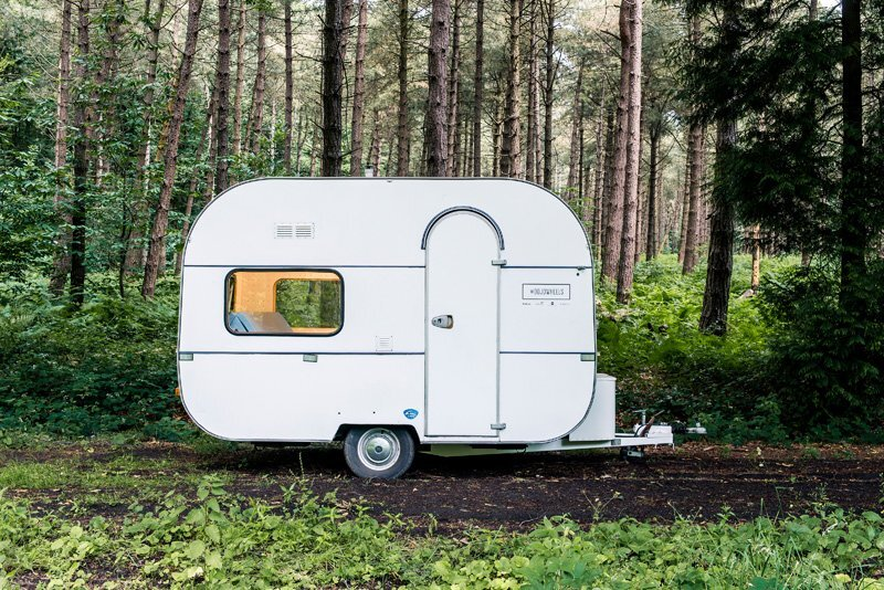 Tiny Camper Turned Modern Mobile Workspace by FIVE AM