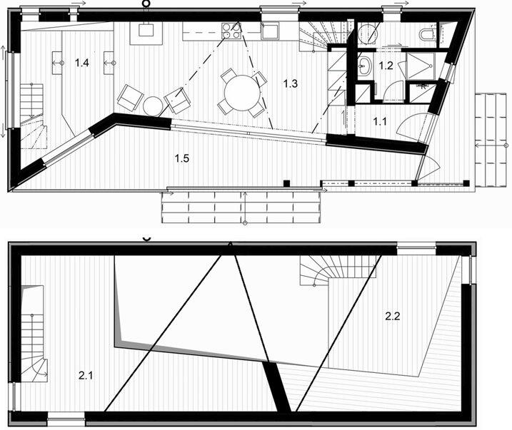 House Zilvar - Small House - ASGK Design - Czech - Floor Plans - Humble Homes