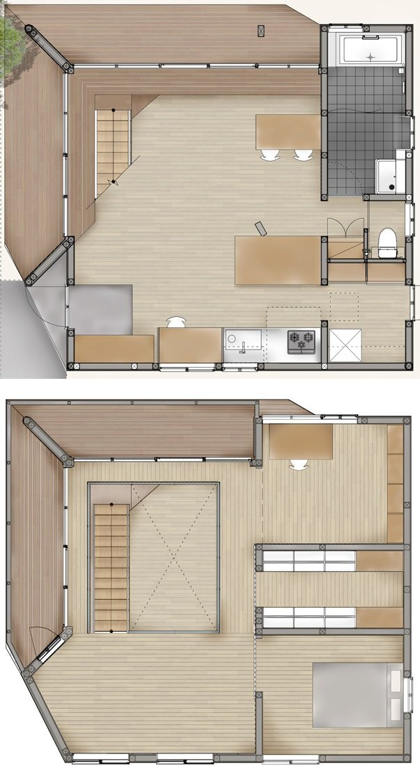 House in Kitakamakura - Small House - Sunao Koase Architects - Japan - Floor Plans - Humble Homes