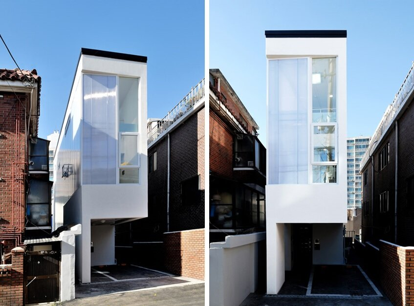 Marvelous Mini House Is Set On A 3 Meter Wide Plot In Seoul Largest Home Design Picture Inspirations Pitcheantrous