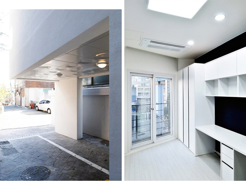 Mini House - Narrow House - AIN Group - Seoul - Parking and Interior - Humble Homes