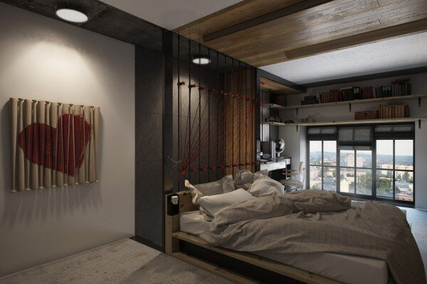 Tiny Apartment - One Studio - Ukraine - Bedroom - Humble Homes