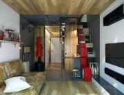 Tiny Apartment - One Studio - Ukraine - Living Area - Humble Homes