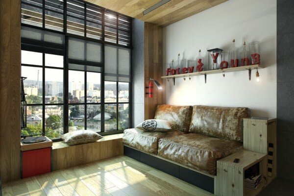 Tiny Apartment - One Studio - Ukraine - Living Area Window - Humble Homes
