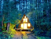 Tye-Haus A-Frame Cabin -  Skykomish Washington - Exterior - Humble Homes