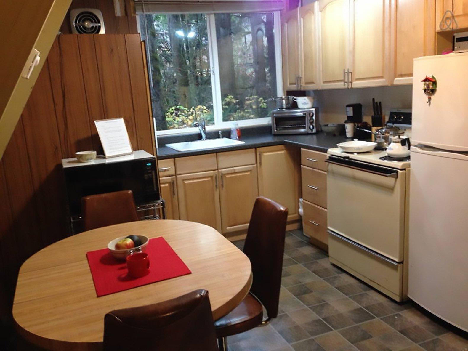 Tye-Haus A-Frame Cabin -  Skykomish Washington - Kitchen - Humble Homes