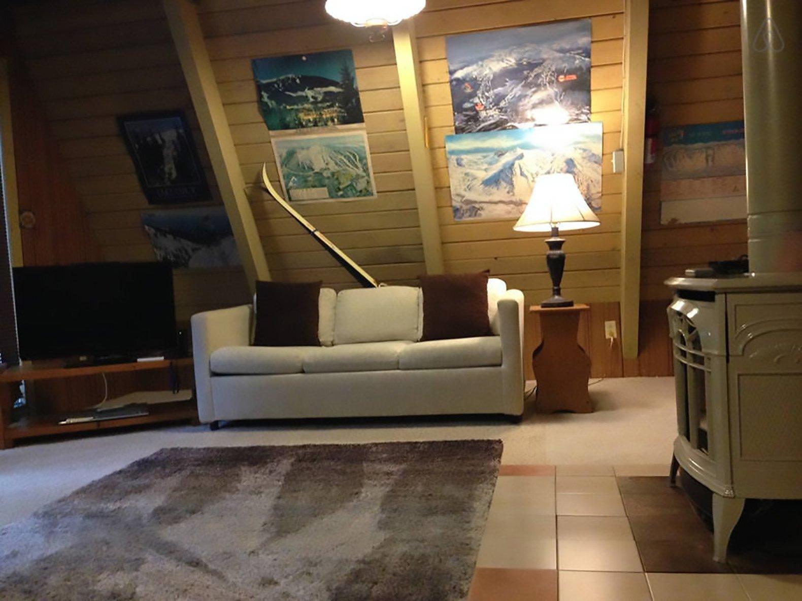 Tye-Haus A-Frame Cabin -  Skykomish Washington - Living Area - Humble Homes