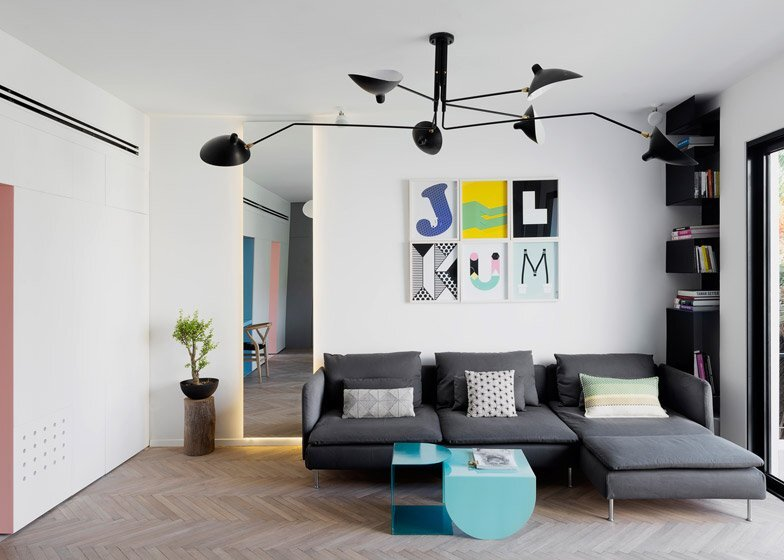 55 Metre Apartment - Maayan Zusman and Amir Navon - Tel Aviv - Living Room - Humble Homes