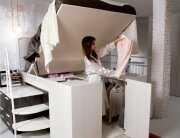 Bed with Storage - Dielle - Italy - Bed Lifted - Humble Homes