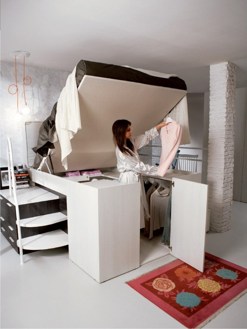 Bed With Storage Dielle Italy