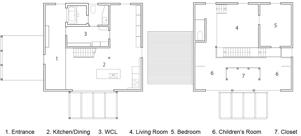 Ishibe House - ALTS Design - Japan - Floor Plans - Humble Homes