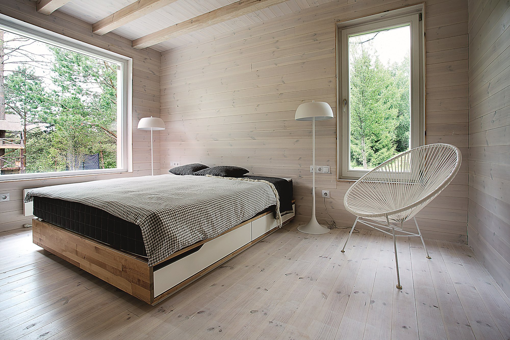 Lithuanian Hunting House - Devyni architektai - Lithuania - Bedroom- Humble Homes