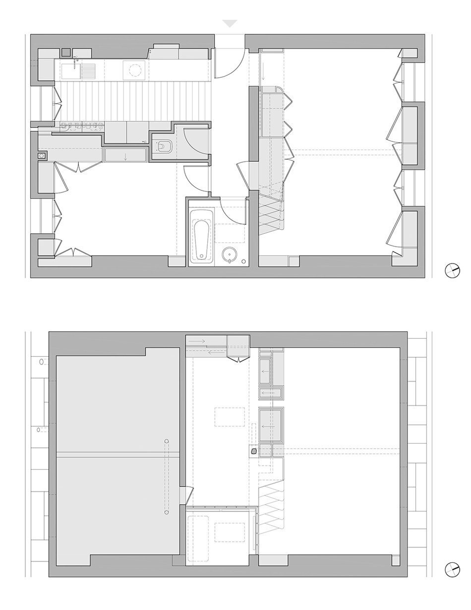 Paris Apartment Renovation - Sabo Project - Paris - Floor Plan - Humble Homes