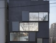 Spiral Window House - Alphaville Architects - Osaka - Exterior - Humble Homes