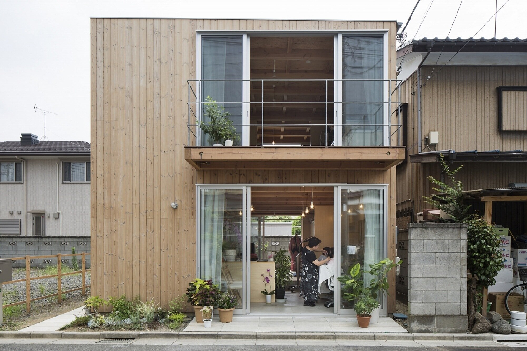Wooden Box House Small House In Japan Mixes Work And