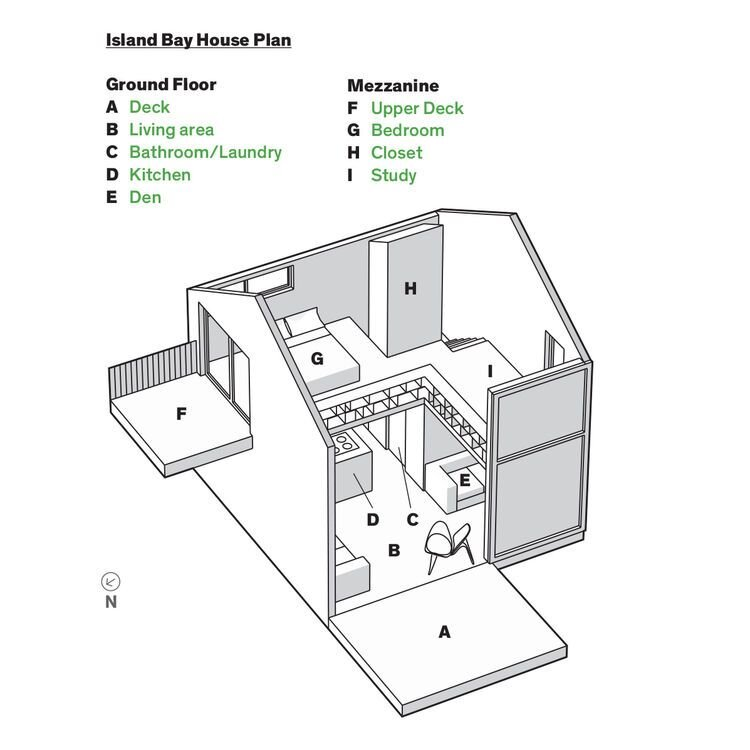 Andrew Simpson's Tiny House - WireDog Architecture - New Zealand - Plan - Humble Homes