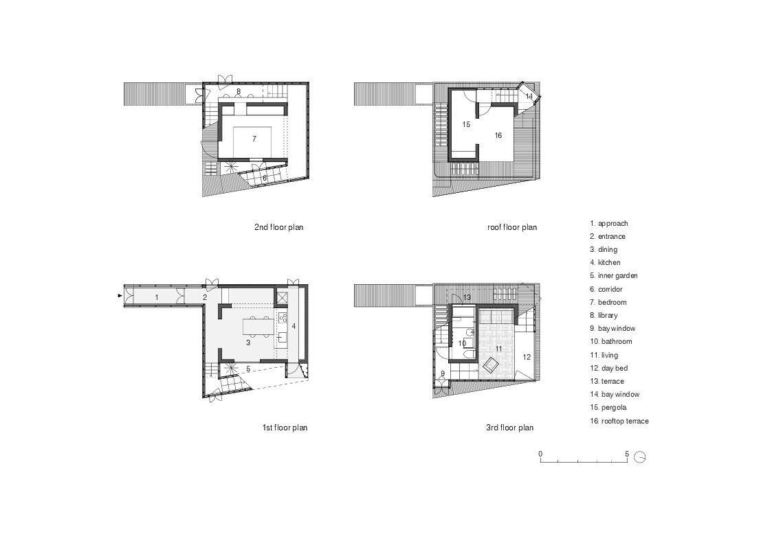 Double Helix House - Onishimaki + Hyakudayuki Architects - Tokyo - Foor Plan - Humble Homes