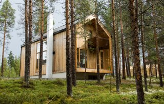 A Cabin in the Woods of Norway by Huus Og Heim Arkitektur