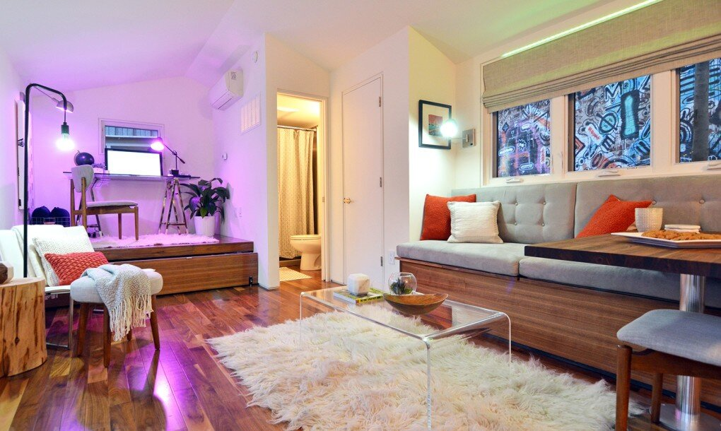 A smart tiny house by kyle schuneman and intel for Smarter small homes