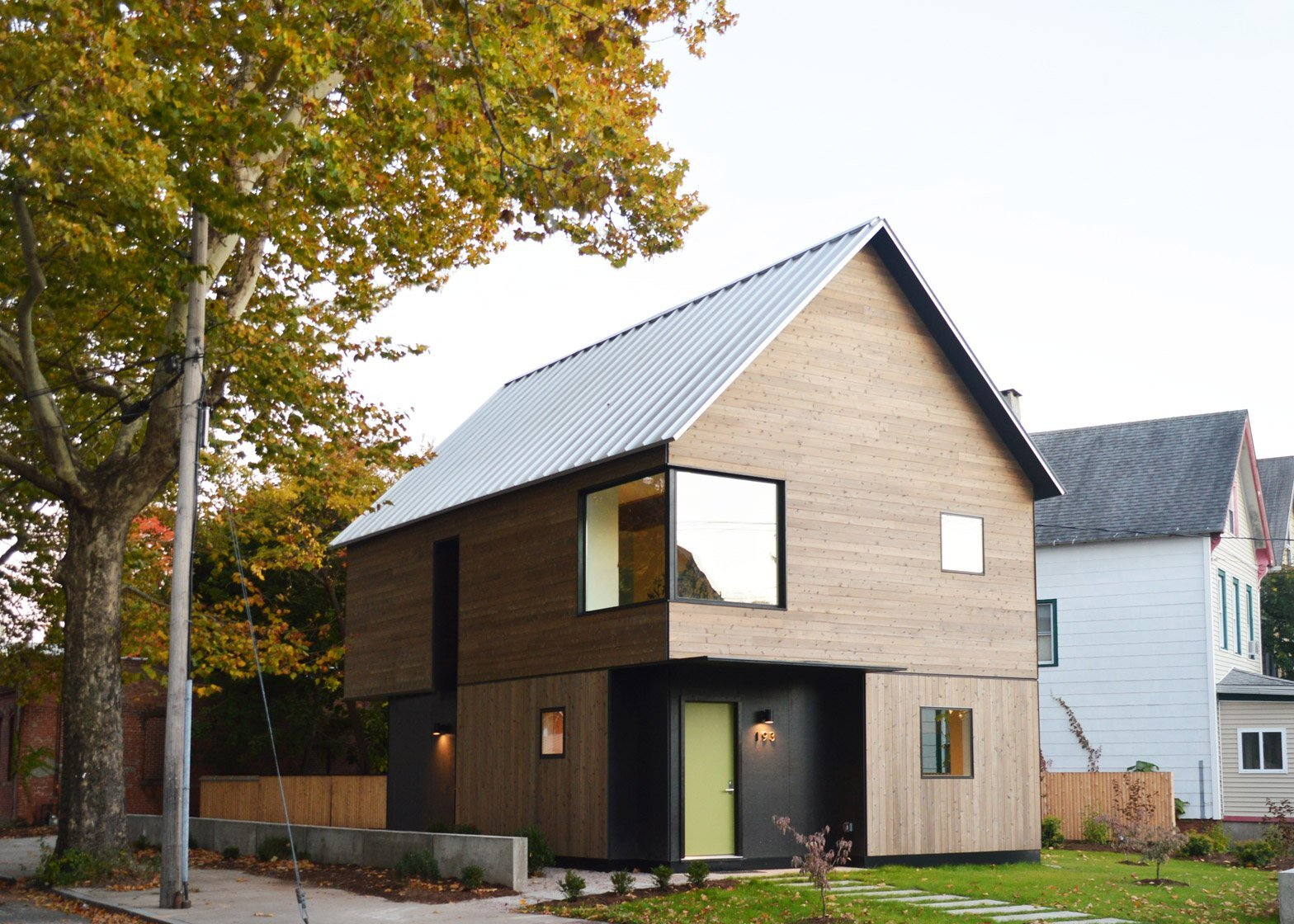 An affordable family home designed built by yale students for Home built house