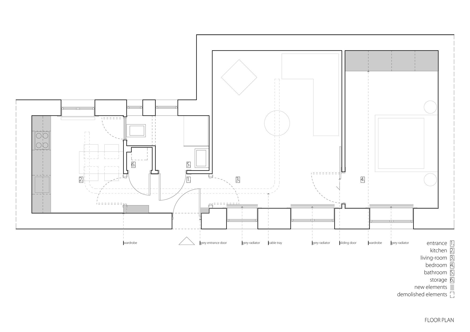 Strict Elegance - Batlab Architects - Hungary - Floor Plan - Humble Homes
