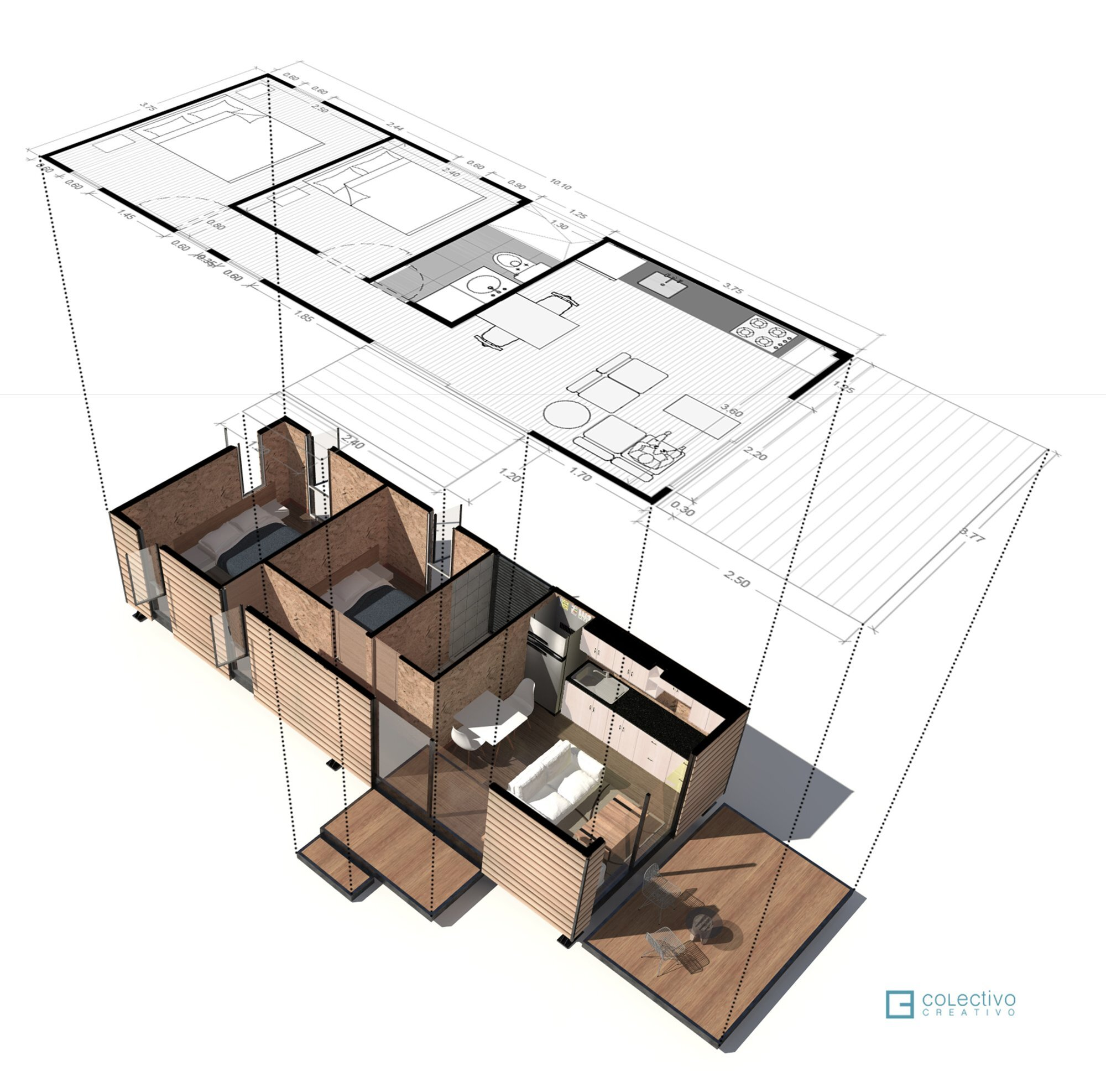 VIMOB - Colectivo Creativo Arquitectos - Columbia - Floor Plan - Humble Homes