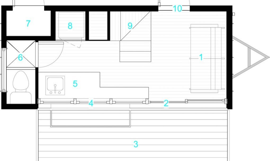 atlas tiny house on wheels f9 productions longmont floor plan humble homes - Tiny House On Wheels Plans