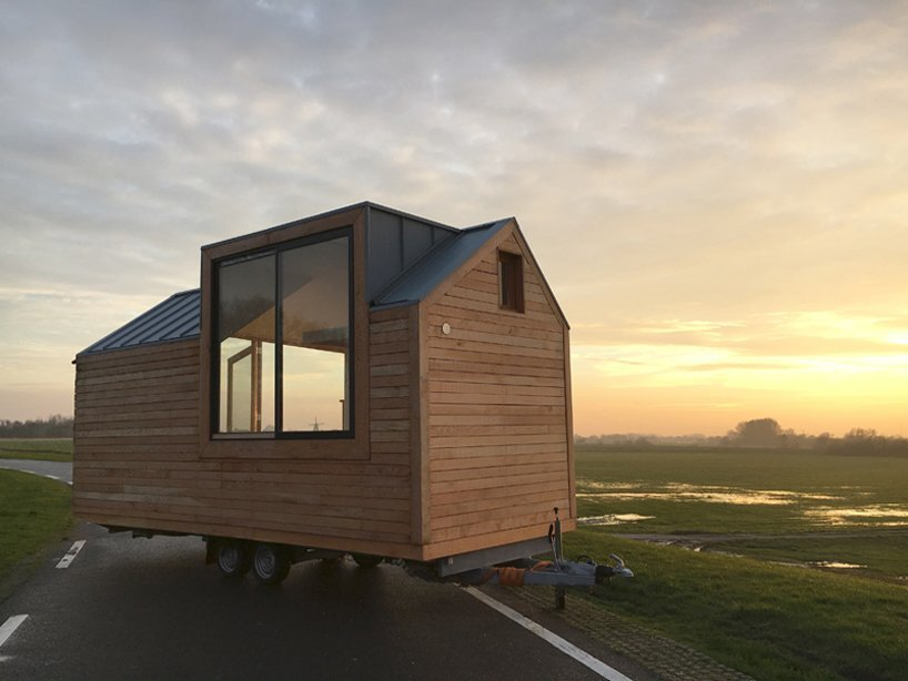 porta palace tiny house daniel venneman the netherlands exterior back humble homes - Tiny House Modern