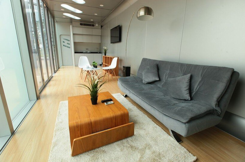 Prefab Tiny House - James Law Cybertecture - Alpod - Main Living Area - Humble Homes