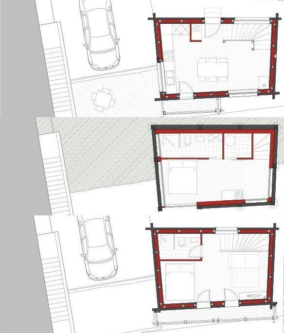 Swedish Cabin - JS' Barn Reconversion - Alp'Architecture Sàrl - Switzerland - Floor Plans - Humble Homes