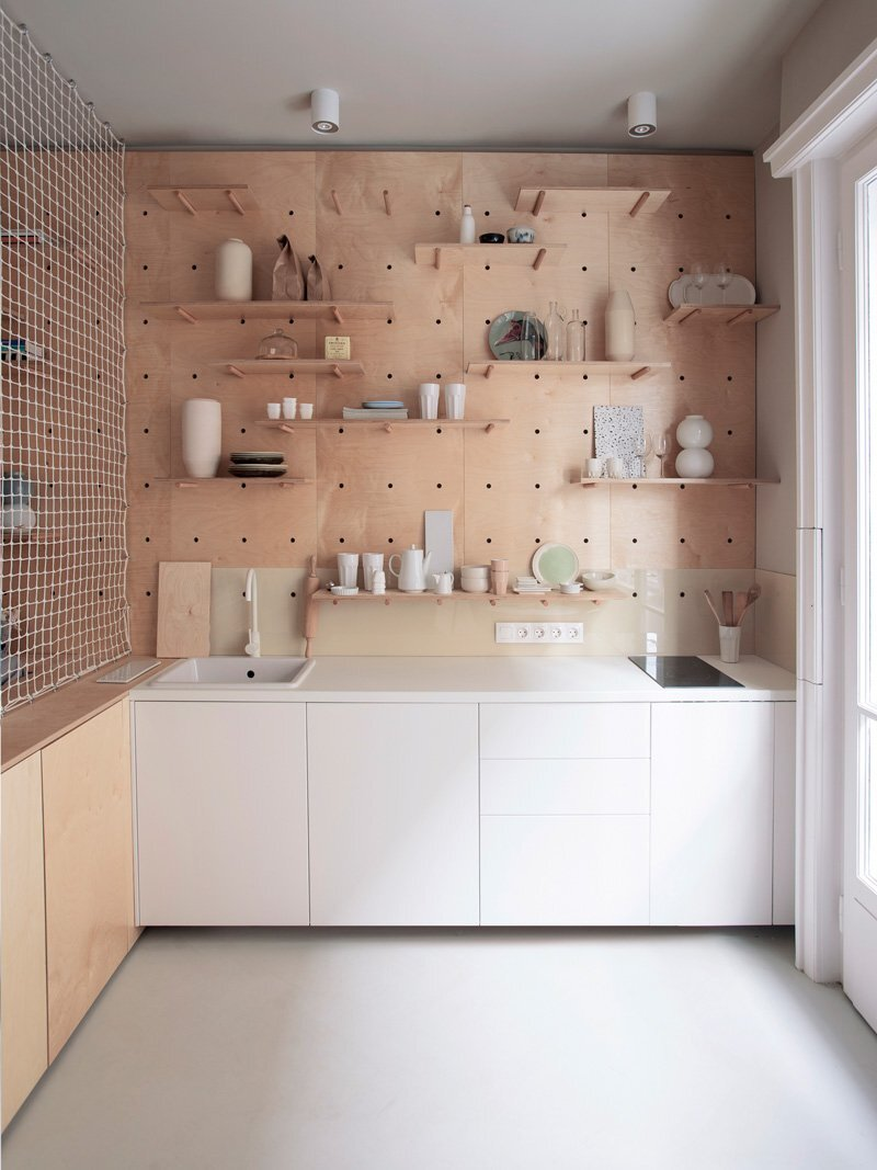 Tiny Apartment - POSITION Collective - Budapest - Kitchen - Humble Homes