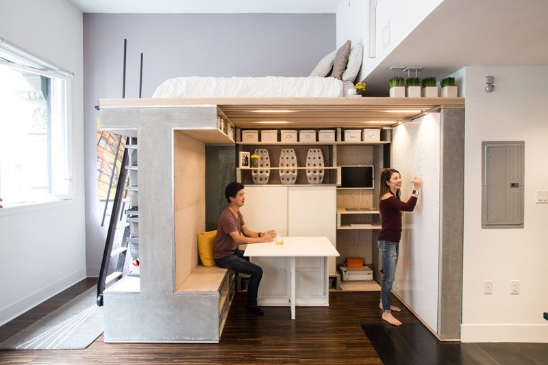 Domino Loft - ICOSA and Peter Suen - San Francisco - Desk - Humble Homes