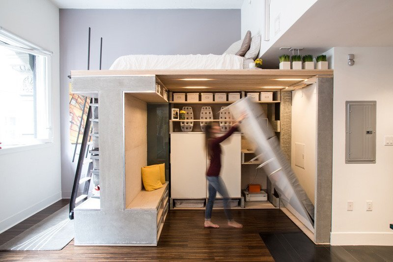 Domino Loft - ICOSA and Peter Suen - San Francisco - Murphy Bed - Humble Homes