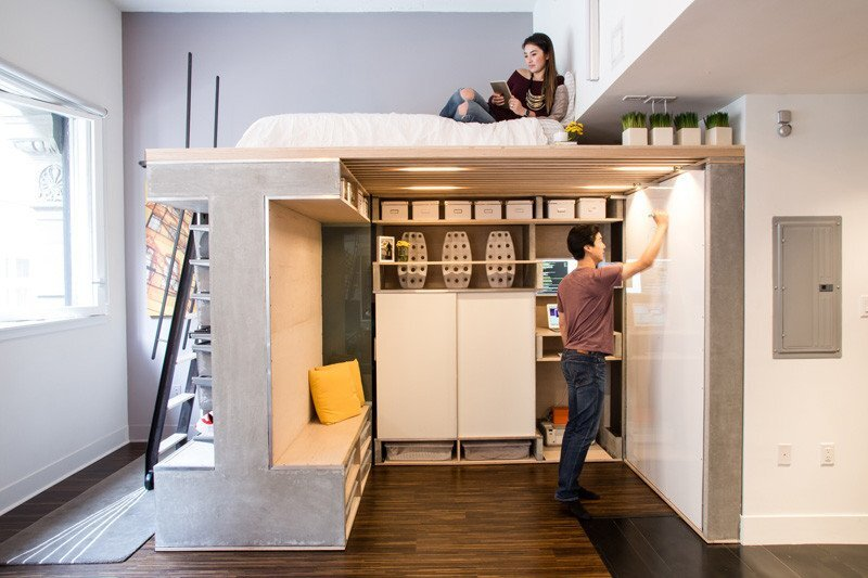 Domino Loft - ICOSA and Peter Suen - San Francisco - Whiteboard - Humble Homes