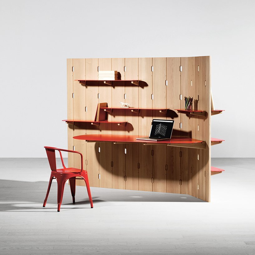 Gilles Belley - Smart Furniture - Wall - Desk and Shelves - Humble Homes