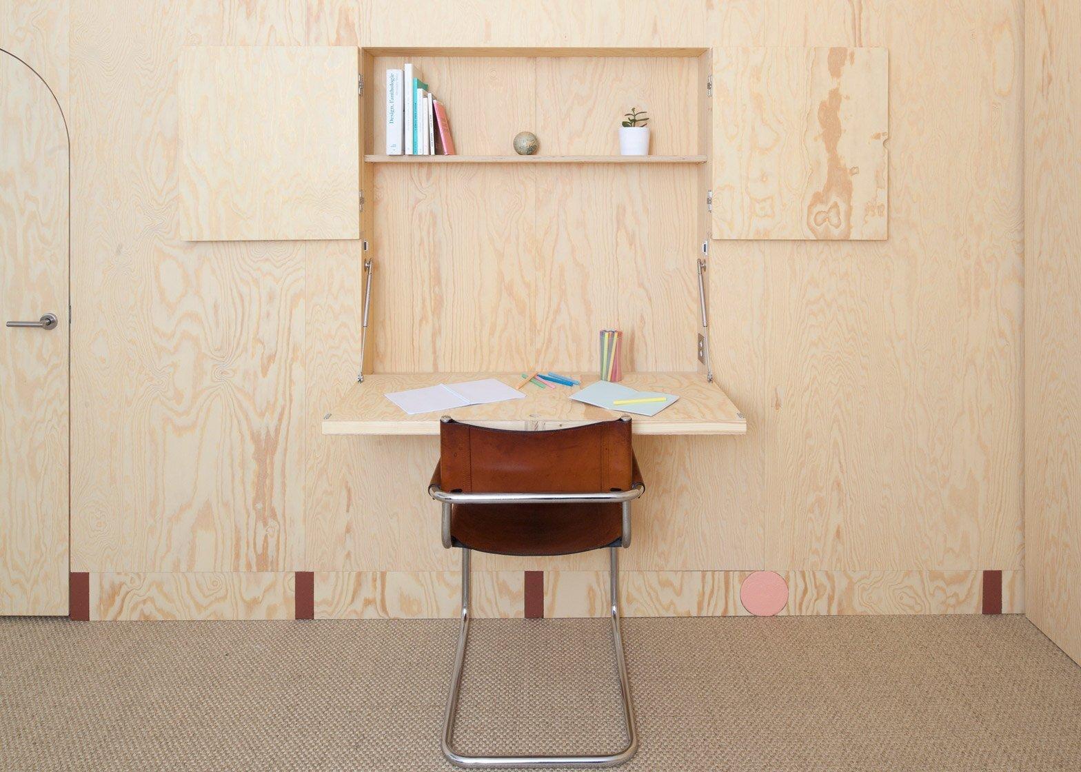 Inhabited Wooden Walls - Aurelie Monet Kasisi - Geneva - Storage Desk - Humble Homes