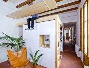 Small Apartment in Gran Via - Bach Arquitectes - Spain - Living Area 1 - Humble Homes