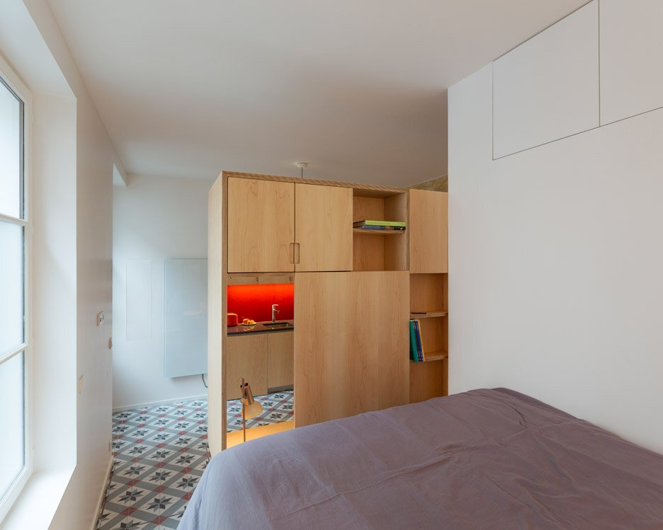Tiny Apartment - Anne Rolland Architecte - Paris - Bedroom - Humble Homes