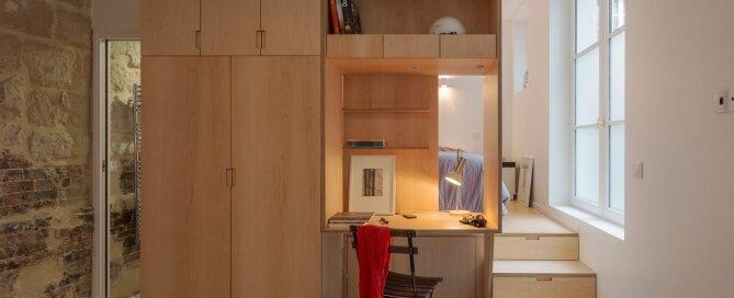 Tiny Apartment - Anne Rolland Architecte - Paris - Study - Humble Homes