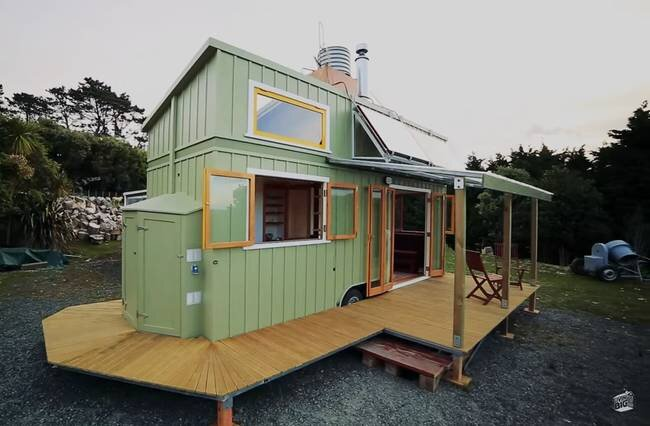 Living Big in a Tiny House - Jeff Hobbs - Tiny house on wheels - Exterior - Humble Homes